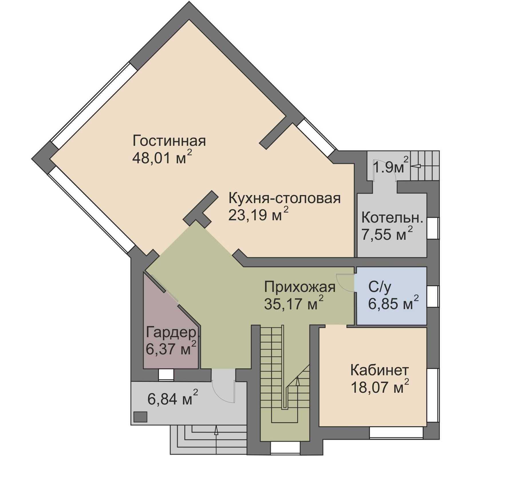 план 1 этажа Голливуд Палникс